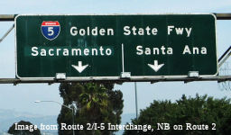 Golden State Freeway Sign