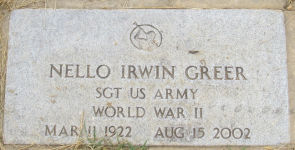 Nello Irwing Greer Tombstone