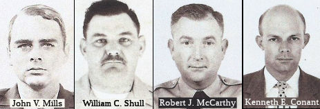 Soledad State Prison Correctional Officers:  John V. Mills, William C. Shull, Robert J. McCarthy, and Kenneth E. Conant