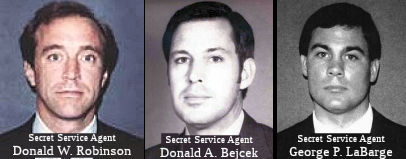 United States Secret Service Special Agents Donald W. Robinson, Donald A. Bejcek, and George P. LaBarge