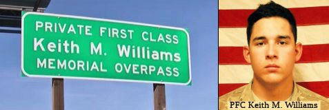Private First Class (PFC) Keith M. Williams Memorial Overpass