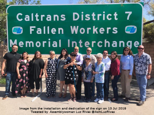 District 7 Fallen Workers Memorial Interchange