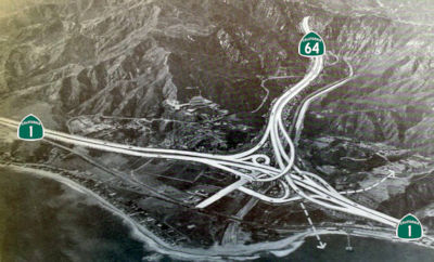 Proposed Interchange with Pacific Coast Freeway in Malibu