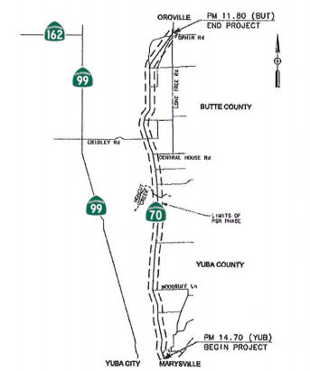 Rte 70 Yuba/Butte Widening
