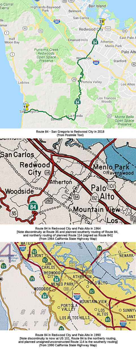 Rte 84 Seg 1 / Palo Alto changes