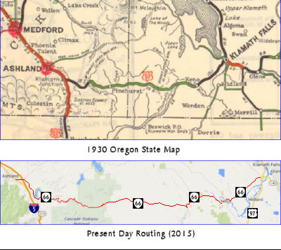 1930s Oregon Routing of 97