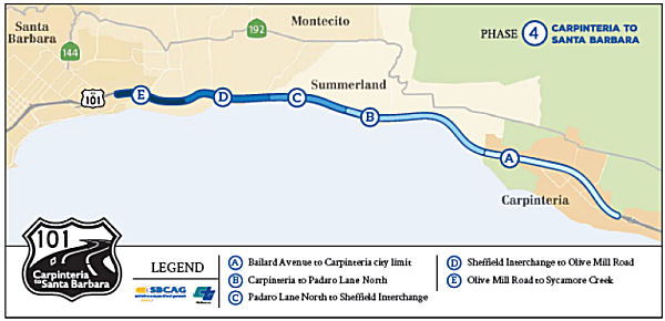 Rte 101 SB HOV Project Split