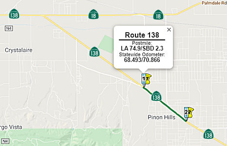 Rte 138 Widening - LA County Line to near Phelan Road