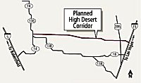 [High Desert Corridor Map]