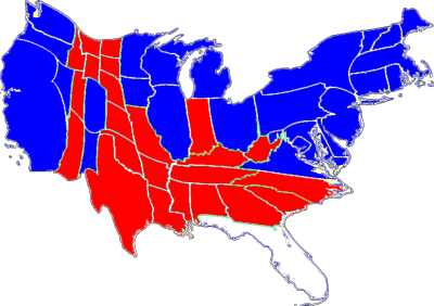 Deformed Electoral Map