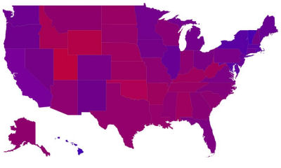 2012 Presidential Election Vote Percentages By State