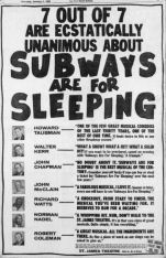 Subways are for Sleeping Hoax Ad
