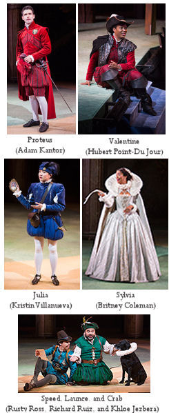 Two Gentlemen of Verona - Old Globe - Publicity Photos by Jim Cox