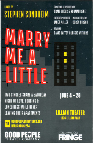 Marry Me a Little (Good People Theatre)