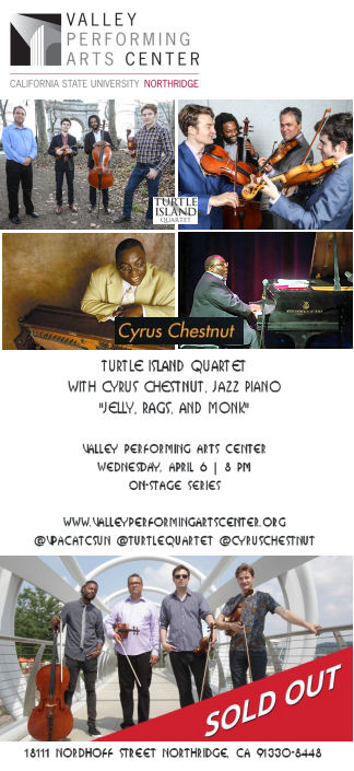 Turtle Island Quartet with Cyrus Chestnut (VPAC)