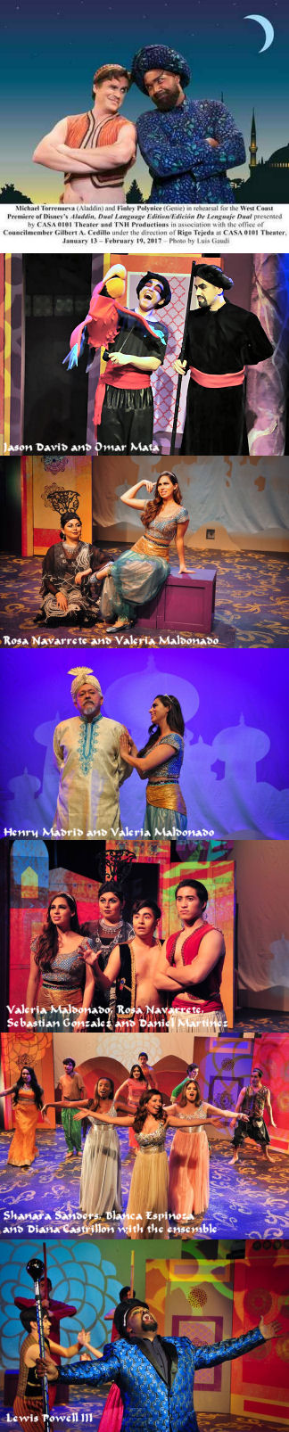 Casa 0101 Aladdin Cast - Pictures from various sources including Casa0101 Facebook Page