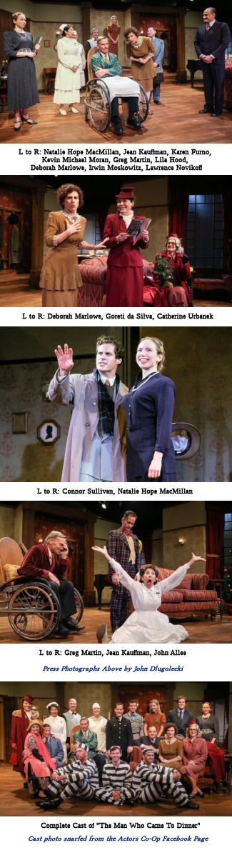 The Man Who Came To Dinner (Cast Photo Strip)