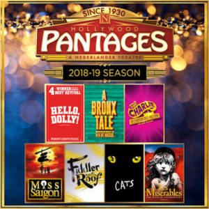 2018-2019 Pantages Season Announcement