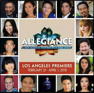 Allegiance Cast Montage